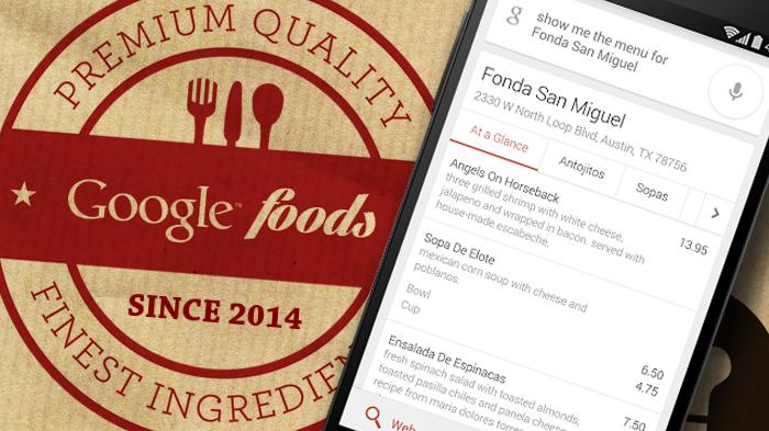 google incorpora nei risultati di ricerca i menu dei ristoranti